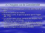 x reglas de la conciencia