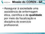 miss o do coren sp