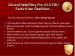 g venli webfiltre pro v3 0 tib i farkl k lan zellikler1