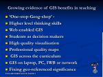 growing evidence of gis benefits in teaching