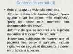 contenci n verbal ii