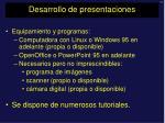 desarrollo de presentaciones