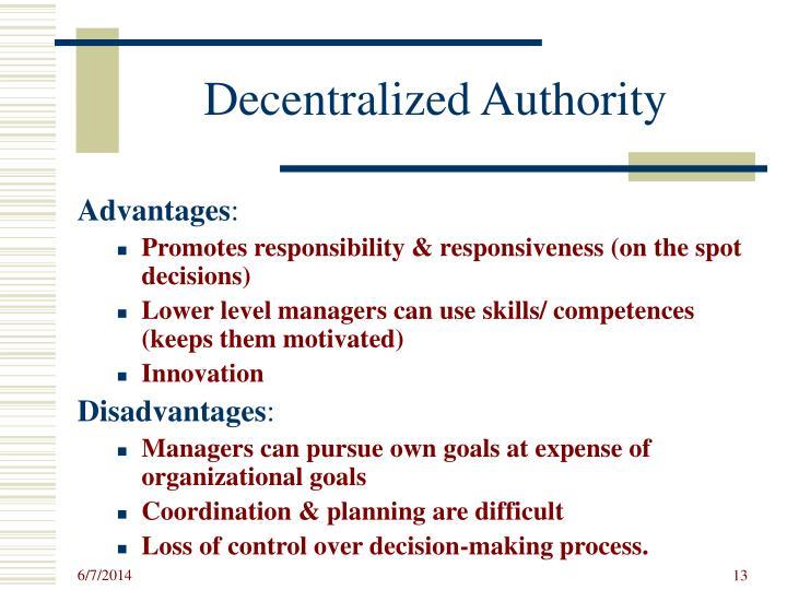 Decentralized Authority
