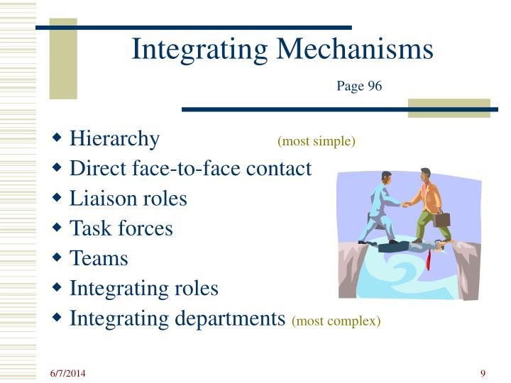 Integrating Mechanisms