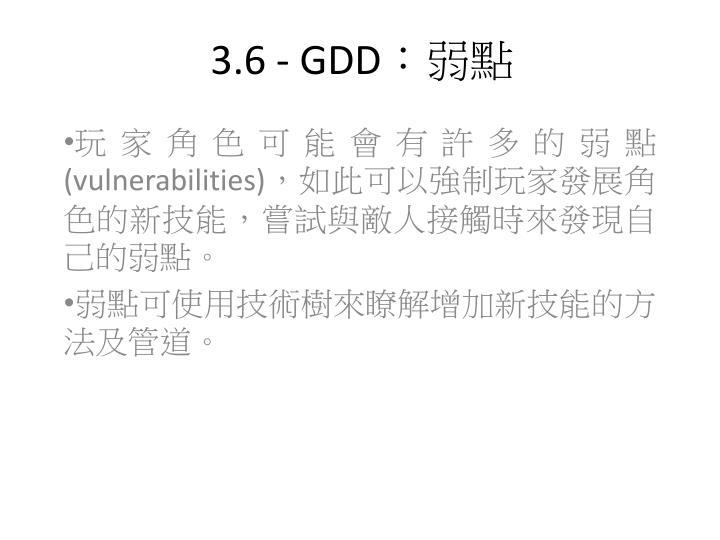 3.6 - GDD