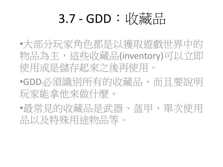 3.7 - GDD