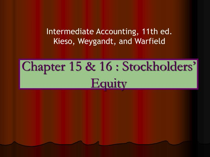 chapter 15 16 stockholders equity n.