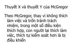 thuy t x v thuy t y c a mcgregor