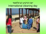 international cleaning day