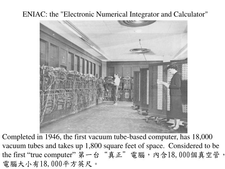 """ENIAC: the """"Electronic Numerical Integrator and Calculator"""""""