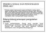 pekerja sosial dan pengubahan perilaku