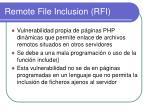 remote file inclusion rfi