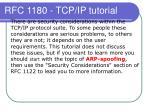 rfc 1180 tcp ip tutorial