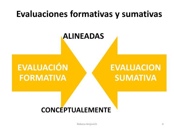 Evaluaciones formativas y sumativas