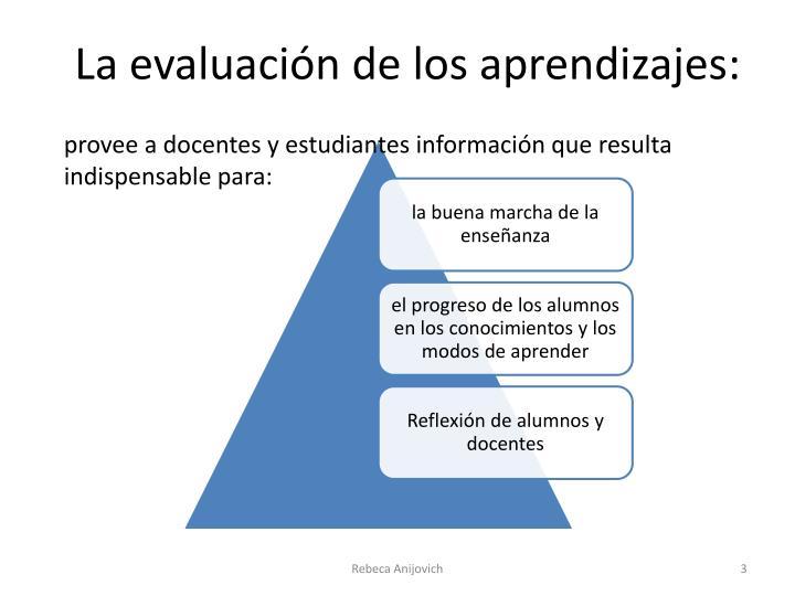 La evaluaci n de los aprendizajes