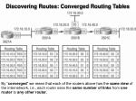 discovering routes converged routing tables