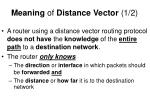 meaning of distance vector 1 2