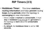 rip timers 2 3