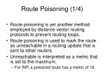 route poisoning 1 4