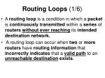 routing loops 1 6
