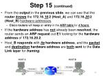 step 15 continued