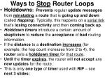 ways to stop router loops