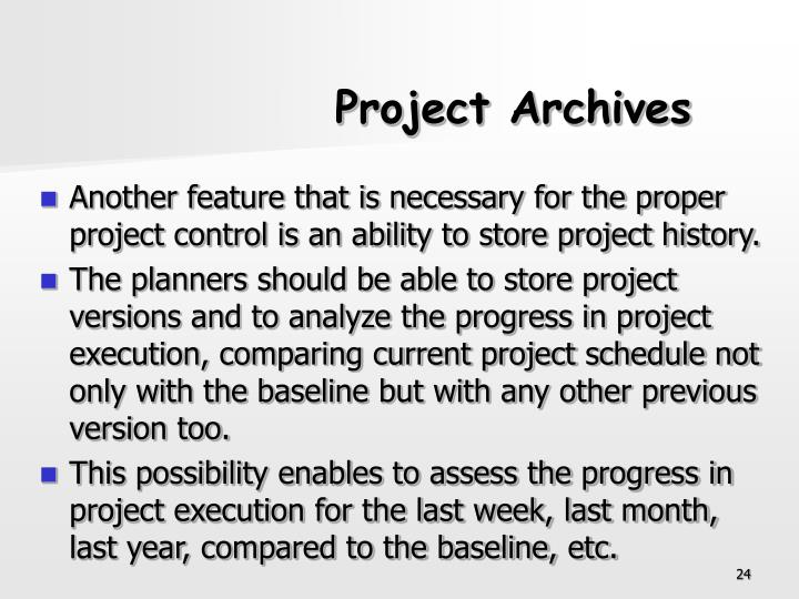 Project Archives