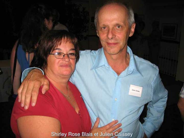 Shirley Rose Blais et Julien Caissey