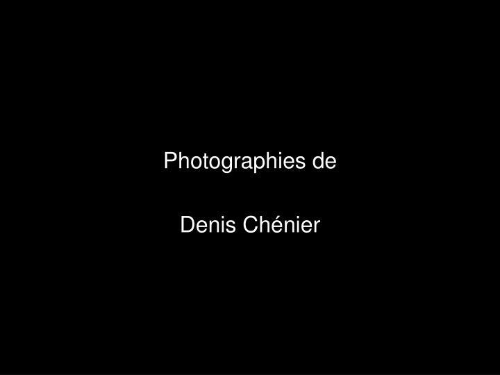 Photographies de