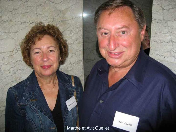 Marthe et Avit Ouellet