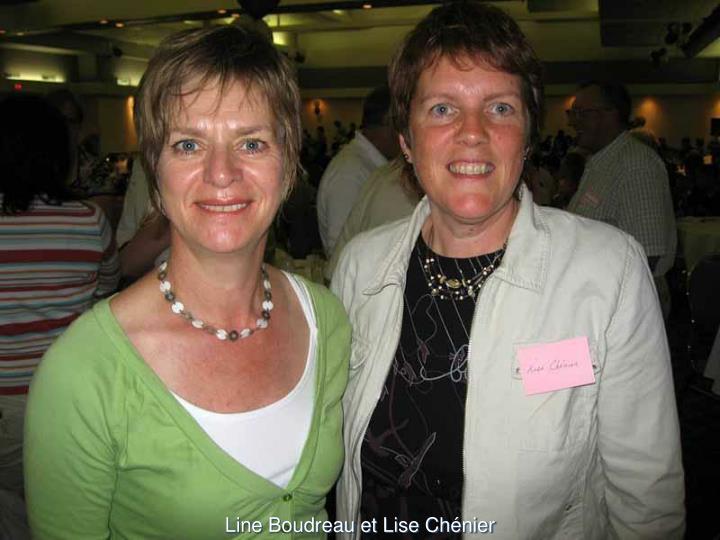 Line Boudreau et Lise Chénier