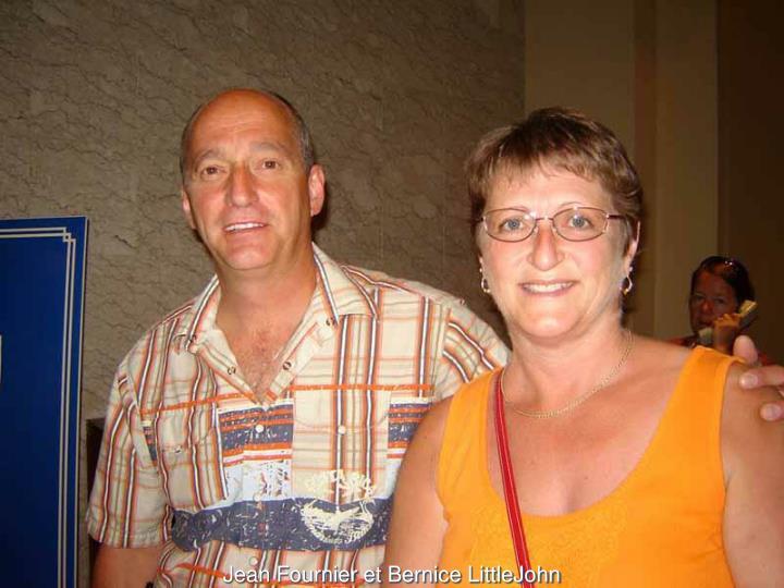 Jean Fournier et Bernice LittleJohn