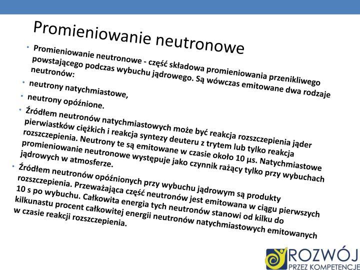 Promieniowanie neutronowe