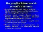 h er ganglion h cresinin bir reseptif alan vard r