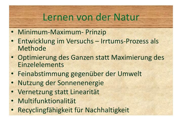 Lernen von der Natur