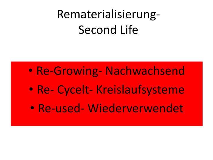 Rematerialisierung