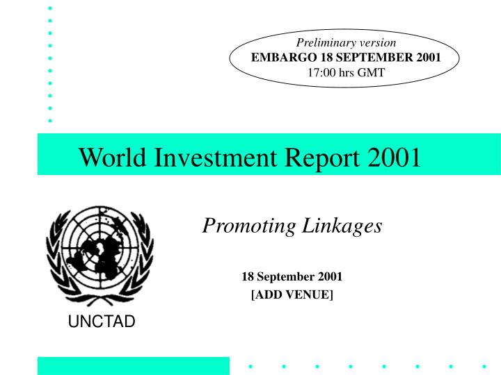 world investment report 2001 n.
