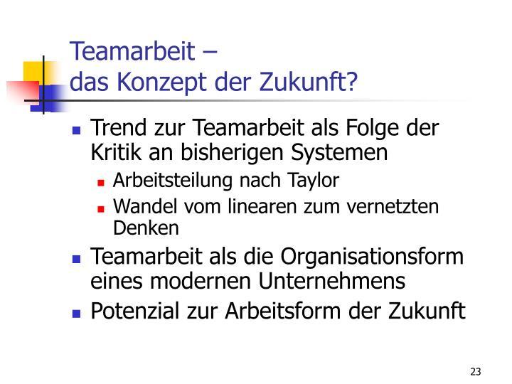 Teamarbeit –