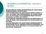 desarrollo normativo acuerdo 2 de 2000