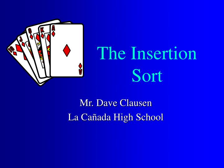 the insertion sort n.