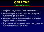 arpitma falsification