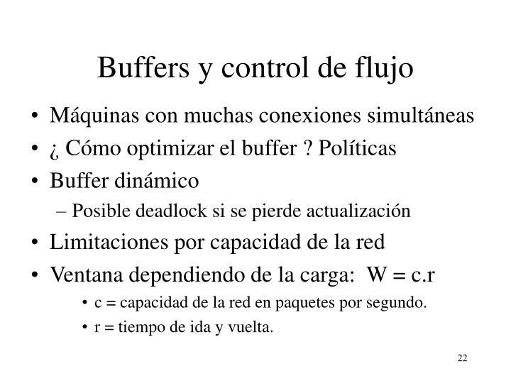 Buffers y control de flujo