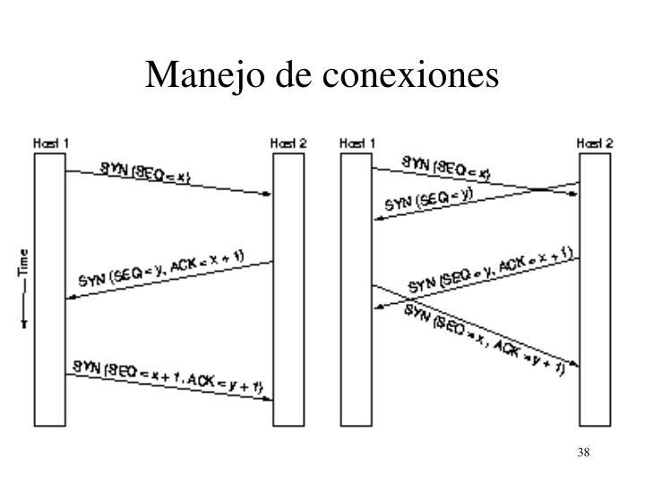 Manejo de conexiones