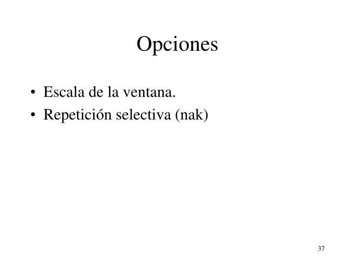 Opciones