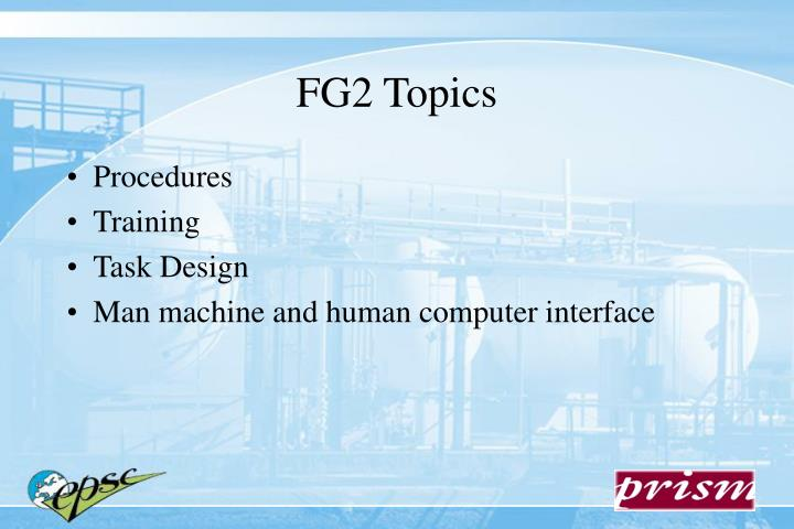 FG2 Topics