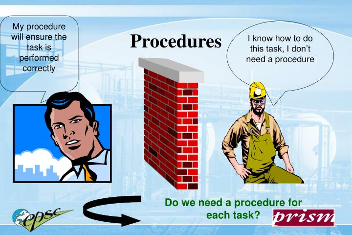 My procedure will ensure the task is performed correctly