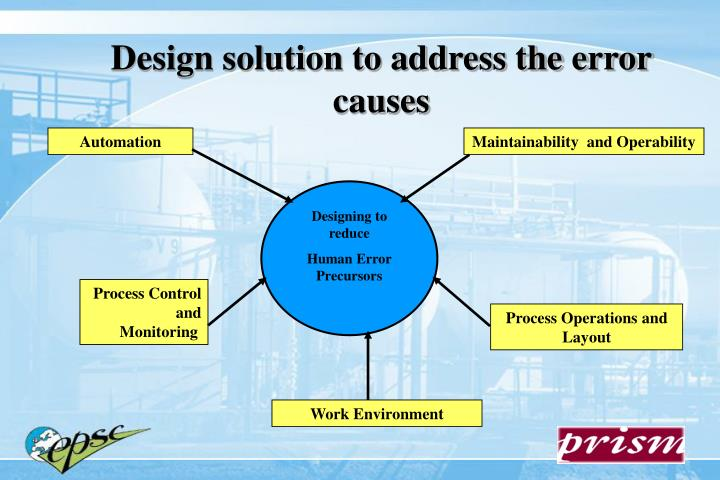 Design solution to address the error causes