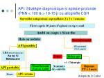 api strat gie diagnostique si aplasie profonde pnn 100 10 15 j ou allogreffe csh