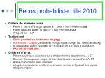 recos probabiliste lille 2010