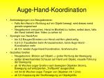 auge hand koordination